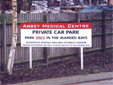 Car Park freestanding sign