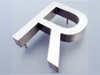 3d built-up stainless steel letter