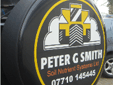 Spare wheel cover graphics