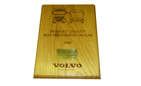 Laser engraved wooden award plaque